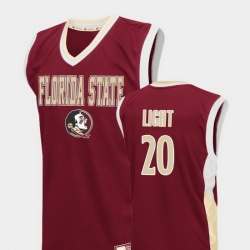 Men Florida State Seminoles Travis Light Red Fadeaway College Basketball Jersey