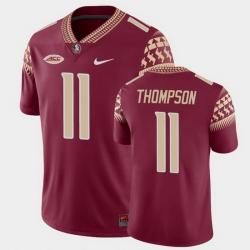 Men Florida State Seminoles Warren Thompson Game Garnet College Football Jersey