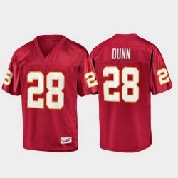 Men Florida State Seminoles Warrick Dunn 28 Garnet Champions Collection Jersey
