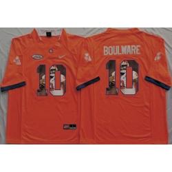 Tigers #10 Ben Boulware Orange Player Fashion Stitched NCAA Jersey