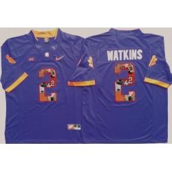 Tigers #2 Sammy Watkins Purple Player Fashion Stitched NCAA Jersey