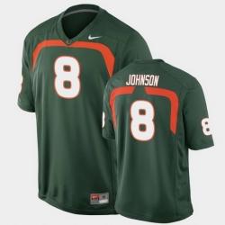 Men Miami Hurricanes Duke Johnson Game Green College Football Jersey