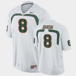 Men Miami Hurricanes Duke Johnson Game White College Football Jersey