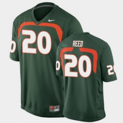 Men Miami Hurricanes Ed Reed Game Green College Football Jersey
