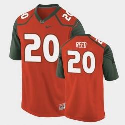 Men Miami Hurricanes Ed Reed Replica Orange College Football Jersey
