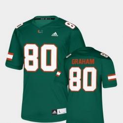 Men Miami Hurricanes Jimmy Graham 80 Green Nflpa Alumni Chase Replica Jersey