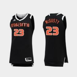 Men Miami Hurricanes Kameron Mcgusty Black White Chase College Basketball Jersey