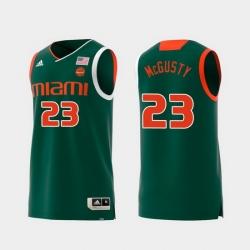 Men Miami Hurricanes Kameron Mcgusty Green Replica College Basketball Jersey