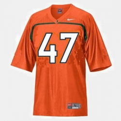 Men Miami Hurricanes Michael Irvin College Football Orange Jersey