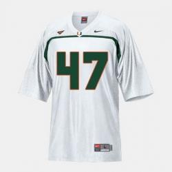 Men Miami Hurricanes Michael Irvin College Football White Jersey