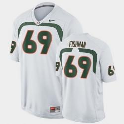 Men Miami Hurricanes Sam Fishman Game White College Football Jersey
