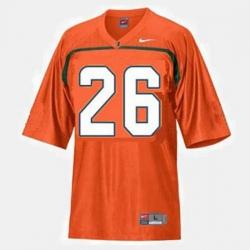 Men Miami Hurricanes Sean Taylor College Football Orange Jersey