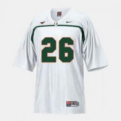 Men Miami Hurricanes Sean Taylor College Football White Jersey