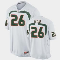 Men Miami Hurricanes Sean Taylor Game White College Football Jersey