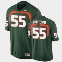 Men Miami Hurricanes Shaquille Quarterman Game Green College Football Jersey
