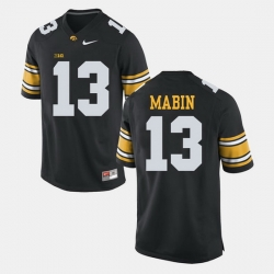 Greg Mabin Black Iowa Hawkeyes Alumni Football Game Jersey