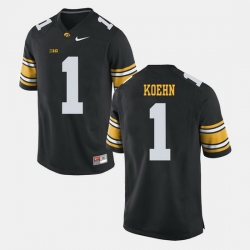Marshall Koehn Black Iowa Hawkeyes Alumni Football Game Jersey