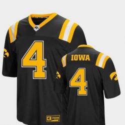 Men Iowa Hawkeyes 4 Black Foos Ball Football Colosseum Jersey