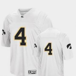Men Iowa Hawkeyes 4 White College Football Colosseum Jersey