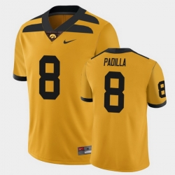 Men Iowa Hawkeyes Alex Padilla College Football Gold Alternate Game Jersey
