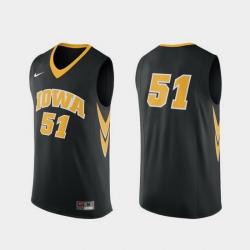 Men Iowa Hawkeyes Black Replica College Basketball Nike Jersey