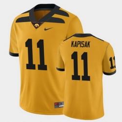 Men Iowa Hawkeyes Connor Kapisak College Football Gold Alternate Game Jersey