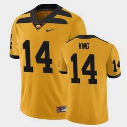 Men Iowa Hawkeyes Desmond King College Football Gold Alternate Game Jersey
