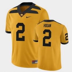 Men Iowa Hawkeyes Deuce Hogan College Football Gold Alternate Game Jersey
