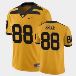 Men Iowa Hawkeyes Isaiah Bruce College Football Gold Alternate Game Jersey