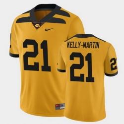 Men Iowa Hawkeyes Ivory Kelly Martin College Football Gold Alternate Game Jersey