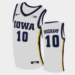 Men Iowa Hawkeyes Joe Wieskamp Home White College Basketball Jersey