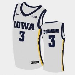Men Iowa Hawkeyes Jordan Bohannon Home White College Basketball Jersey