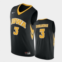 Men Iowa Hawkeyes Jordan Bohannon Replica Black College Basketball Jersey