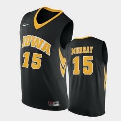 Men Iowa Hawkeyes Keegan Murray Replica Black College Basketball Jersey