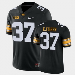 Men Iowa Hawkeyes Kyler Fisher Game Black College Football Jersey