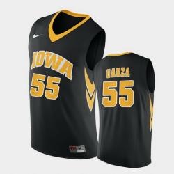 Men Iowa Hawkeyes Luka Garza Replica Black College Basketball Jersey