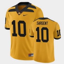 Men Iowa Hawkeyes Mekhi Sargent College Football Gold Alternate Game Jersey