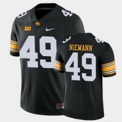 Men Iowa Hawkeyes Nick Niemann Game Black College Football Jersey
