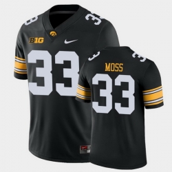 Men Iowa Hawkeyes Riley Moss Game Black College Football Jersey
