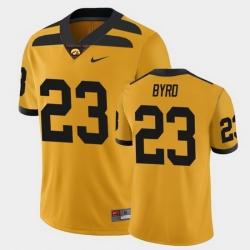 Men Iowa Hawkeyes Shadrick Byrd College Football Gold Alternate Game Jersey