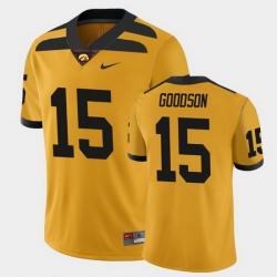 Men Iowa Hawkeyes Tyler Goodson College Football Gold Alternate Game Jersey