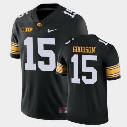 Men Iowa Hawkeyes Tyler Goodson Game Black College Football Jersey