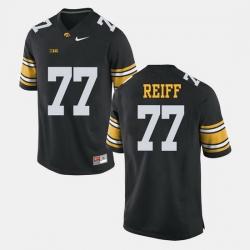 Men Riley Reiff Black Iowa Hawkeyes Alumni Football Game Jersey
