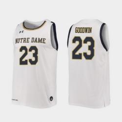 Men Notre Dame Fighting Irish Dane Goodwin Replica White College Basketball 2019 20 Jersey