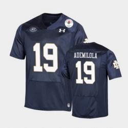 Men Notre Dame Fighting Irish Justin Ademilola 2021 Rose Bowl Navy College Football Jersey