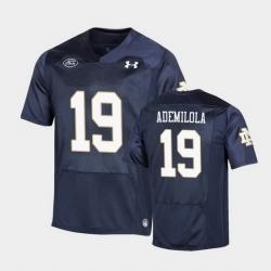Men Notre Dame Fighting Irish Justin Ademilola Replica Navy College Football Playoff Jersey