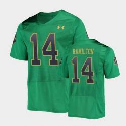 Men Notre Dame Fighting Irish Kyle Hamilton College Football Green Replica Jersey