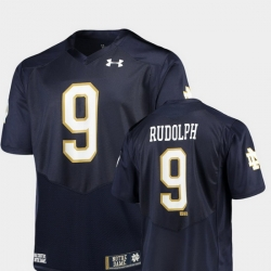 Men Notre Dame Fighting Irish Kyle Rudolph 9 Navy Alumni Football Game Replica Jersey