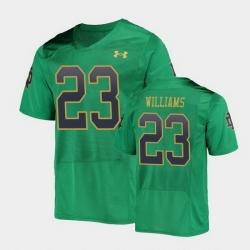 Men Notre Dame Fighting Irish Kyren Williams College Football Green Replica Jersey