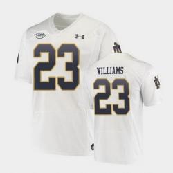 Men Notre Dame Fighting Irish Kyren Williams Replica White College Football Playoff Jersey